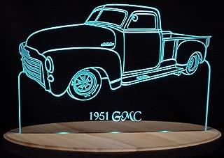ValleyDesignsND 1951 GMC Pickup Truck Acrylic Lighted Edge Lit 13
