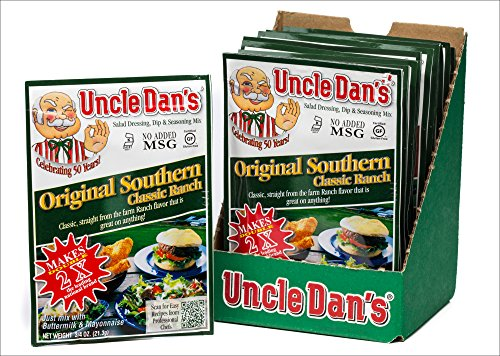 Uncle Dan's Original Southern Classic Ranch Dressing, Dip, and Seasoning Mix - 12 Pack Case