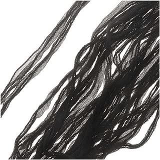 Beadaholique Silk Fabric Fairy Ribbon, 2cm Wide, 40 Inches Long, 1 Strand, Black