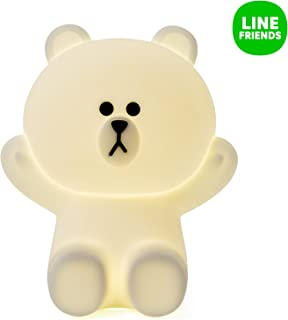 LINE FRIENDS Brown Hug-Me LED Touch Lamp One Size White