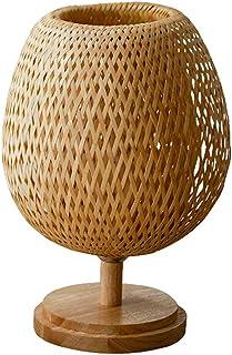 Augu Style Japonais Solide Lampe de Table décoratif en Bois créatif Lampe de Chevet en Bois Base de Bois Massif E27 à la M...
