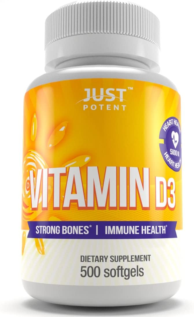 Vitamin Max 56% OFF D3 Clearance SALE Limited time Supplement by Just IU Potent Softgels 5000 500