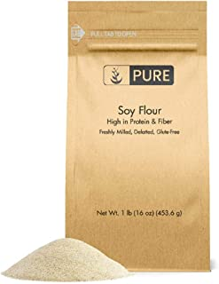 Soy Flour (1 lb.) by Pure Organic Ingredients, Great for Baking, Frying, and Thickening. High Protein / Low Calorie