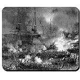 Boulogne Seeschlacht Gemälde Kupferstich Lord Historisch - Mauspad #10458 M