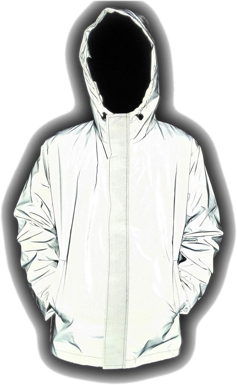LANSHULAN Men's 3M Scotchlite Series Reflective High Visibility Jacket