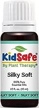 Plant Therapy KidSafe Silky Soft Synergy Essential Oil Blend. Blend of: Lavender, Copaiba, Palmarosa, Lemon, Frankincense Carteri and Helichrysum Italicum. 10 ml (1/3 oz).