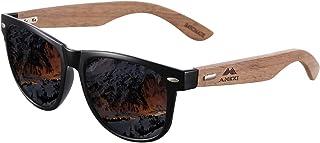 AMEXI Occhiali sportivi da uomo unisex polarizzati occhiali da sole UV 400 protezione nero design classico (argento) (aran...