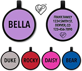 Love Your Pets Soundless Pet Tag - Deep Engraved Silicone – Double Sided and Engraving Will Last - Includes Shipping with Tracking- Pet ID Tags, Dog Tags, Cat Tags