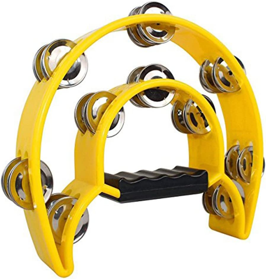 ROSENICE Double Row Half Limited price Moon T Metal Tambourine Musical Max 60% OFF Jingles