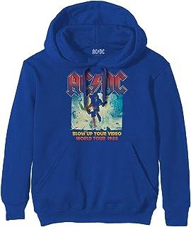 Men's Blow Up Your Video Hooded Sweatshirt Large Blue