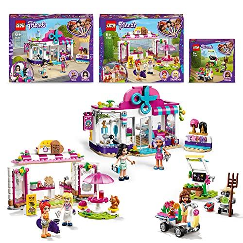 LEGO 66687 Friends Vorteilspaket, 3-in-1 Set mit Friseursalon von Heartlake City, Waffelhaus und Olivias Blumengarten, Spielzeug, Geschenk für Kinder