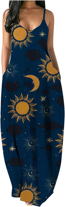 Xiart Pockets Dress San Jose Mall Womens SEAL limited product Tie Sunflower Butterf Dye St Gradient
