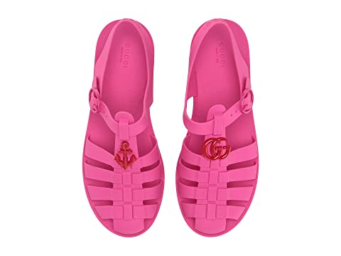 b42d62d53cc7 Gucci Kids GG Jelly Sandal (Little Kid) at Luxury.Zappos.com