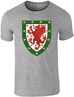 Wales Soccer National Team Football Crest Graphic Tee T-Shirt for Men