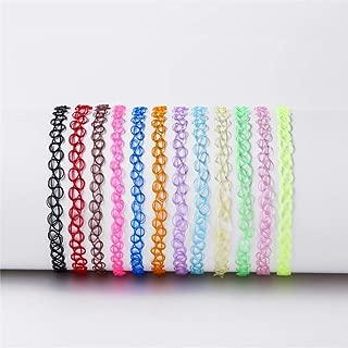 YOPQ Choker Necklace Set Stretch Elastic Jewelry Women Girl 12PCS Gift Pack