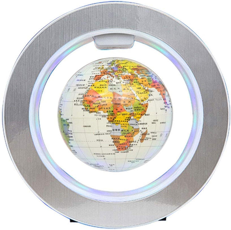 4  Magnetische Schwebekugel O-Form Maglev-Weltkarte Floating automatisch drehen mit LED für Tischdekoration und Bildung B07PDYP2YC | Fuxin