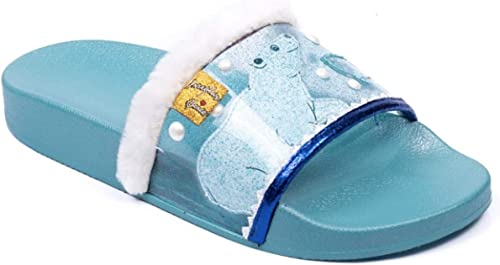 Irregular Choice Arctic Slide - Tobillera, Color azul y blanco