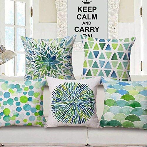 AEROHAVEN™ Set of 5 Velvet Cotton Cushion Covers.(CC-44) (12 x 12 Inch OR 30 cm x 30 cm)