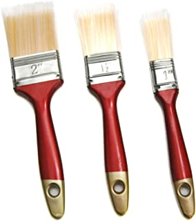 """Hometeq 3 Pack - 2"""", 1.5"""", 1"""" Paint Brushes Latex or Oil Based Paints for Indoor or Outdoor"""