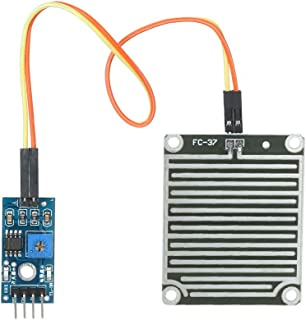 Festnight Raindrops Module Rain Drops Sensor Weather Moisture Monitor Sensor Raindrop Weather Detection Module For Arduino
