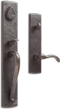 Signature Hardware 915876-DU-LH Bullock Dummy Entrance Door Set with Lever Handle - Left Hand