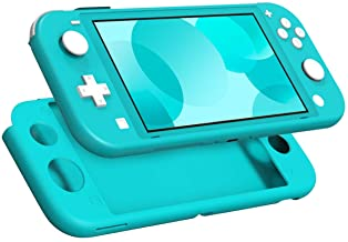 MoKo Case for Nintendo Switch Lite, Silicone Protective Rubber Cover, Shock-Absorption Anti-Scratch Non-Slip Case for Nintendo Switch Lite Console - Turquoise