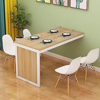 Table de salle à manger pliante fixée au mur Table convertible en MDF Bureau de bureau à domicile multifonctionnel Bureau ...