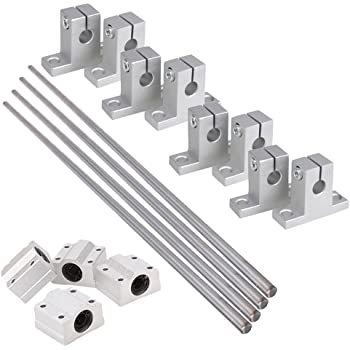 1 Pcs 10 mm 400 mm WC10 Cylinder Liner Rail Linear optical axis