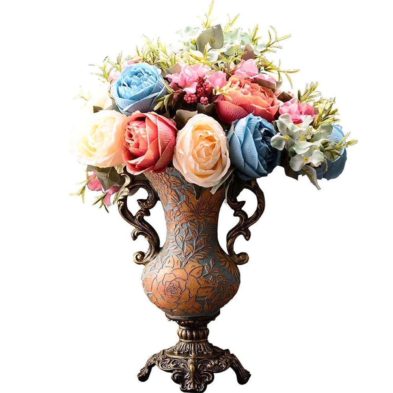 セマフォ位置づけるはちみつ花瓶 ルーム表目玉ベッドルームオフィスホテルホームデコレーション人工フラワーアレンジメントブーケ樹脂