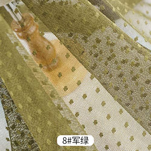 Dot mesh stof, effen kleur rok gordijn bed gordijn klamboe achtergrond decoratief gaas, DIY stof-Legergroen