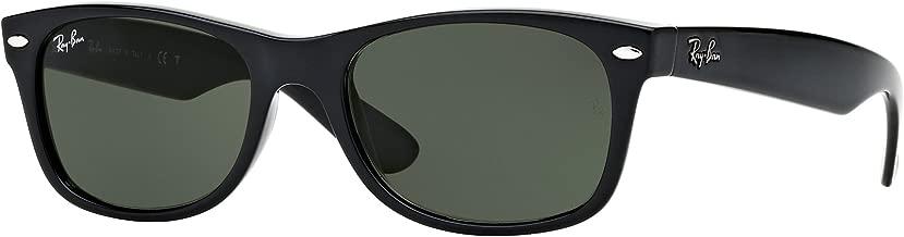 Ray-Ban RB2132 New Wayfarer Sunglasses Unisex (58 mm, Black Frame Solid Black Lens)