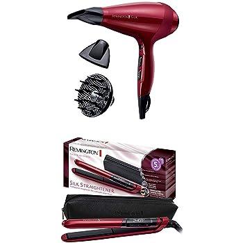 Remington Coffret Cadeau - Set de Coiffure Sèche-Cheveux Silk et Lisseur Silk Proteine de Soie - AC9096 et S9600
