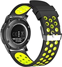 20mm Smart Watch Bands, FanTEK Silicone Sport Quick Release Watch Strap Wristband for Samsung Galaxy Watch 42mm / Galaxy Watch Active/Gear 2 Classic/Gear Sport/Moto 360 for Men 2nd Gen 42mm