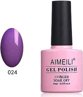 AIMEILI Soak Off UV LED Gel Nail Polish - Lilac Plum Shine (024) 10ml