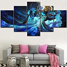 Home Decoration Wall Art Canvas Painting Print 5 Panel Bloodborne Video Game Poster Bedroom Frame Modular Picture