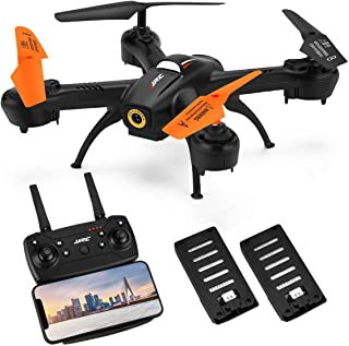 Drone with 720P HD Camera Live Video,JJRC H72 Rc Drones for Kids,APP Control WiFi FPV Real Time Transmission Drone for Beginners,Indoor Drone with Gravity Control,Altitude Hold,Throw to Fly (Black)