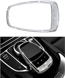 Zubehör Teile Trimmen Touchpad Bildschirm Zentrale Multimedia Steuerung Kappen Abdeckungen Innendekorationen für W204 X204 W166 X166 C Klasse GLK AMG Bling Kristall (Silber)