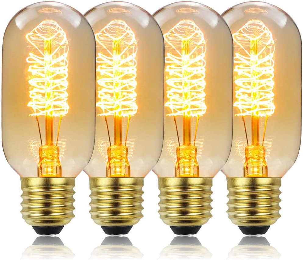 Popular overseas T45 Vintage Direct sale of manufacturer Edison Light Bulb Incandescen Tubular Antique Style