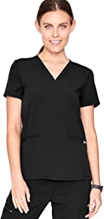 Casma Three-Pocket Scrub Top for Women – Tailored Fit, Super Soft Stretch, Anti-Wrinkle Medical Scrub Top