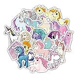 33 Unds pegatinas plastificadas de unicornios para patinetes, cascos, consolas, patines, ventanas puertas cuartos...