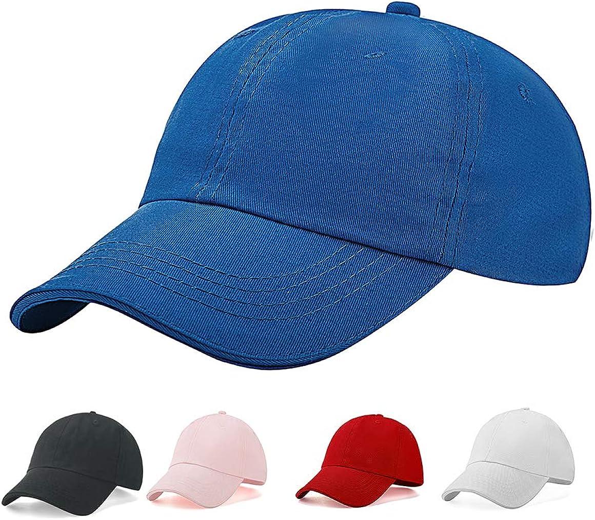 Baseball-Cap-Hat-Boys Kids Adjustable Plain - Unisex Unconstructed Low Profile Cotton Fit for 1-5 Years 50-52CM