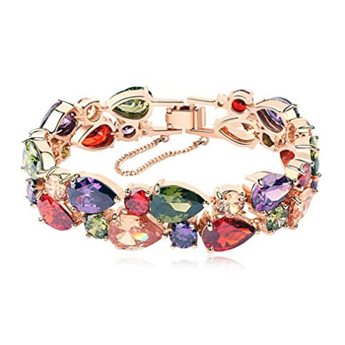 ad9e6628c19bd Amethyst and Rose Gold Bracelet: Amazon.com