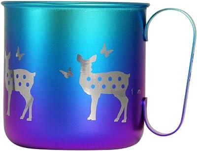 ホリエ チタンデザインマグカップ 動物 シカ(ブルーパープル) TMA-214B