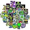 ステッカー 10/30 / 30 / 50pcs ufoステッカーパック防水ノートパソコン自転車スケートボード美的落書きアニメデカールステッカーパック子供おもちゃ 絶妙なステッカー (Color : Alien UFO 10PCS)