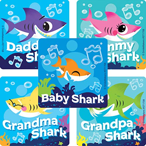 Baby Shark Stickers - Prizes and Giveaways - 100 per Pack