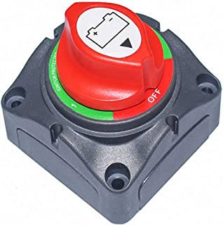 MDY Waterproof Heavy Duty Battery Disconnect Isolator Switch 1-2-Both-Off 6V/60V 200/1250Amps Master Cut/Shut Off Marine For Boat Car RV ATV UTV Vehicle Small Yacht RV Camper (Not included Bolts)