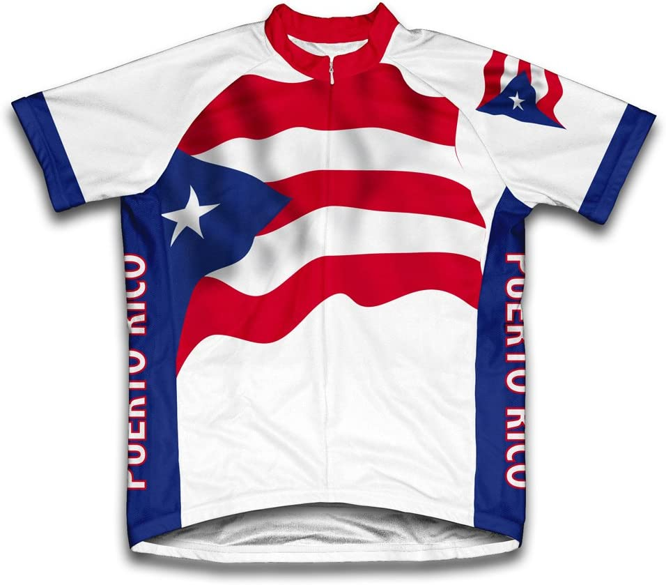 ScudoPro Puerto depot Rico Time sale Flag Short Sleeve for Cycling Jersey Men