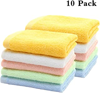 HOPAI Bamboo Washcloths Luxury Bamboo Towel Set 10 Pack for Bathroom-Hotel-Spa-Kitchen Multi-Purpose Fingertip Towels & Face Bamboo Towels 10'' x 10'