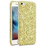 EINFFHO iPhone 6/6S Hülle, Elegant Pailletten Glänzend Glitzer Bling Hart PC Hardcase Schutz Bumper Schutzhülle Schale Etui Handyhülle für iPhone 6/6S (Gold)