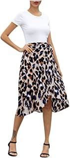 Fashion Women Sexy Leopard Printed Split Bandage Evening Party Skirt